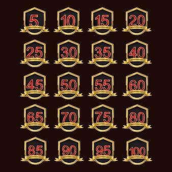 Golden anniversary badges