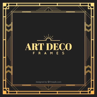 Golden art deco frame
