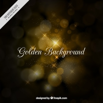 Golden background in bokeh style