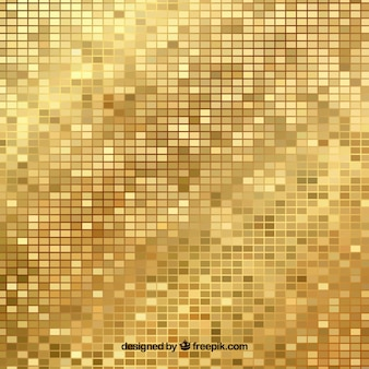 Golden background of bright mosaics