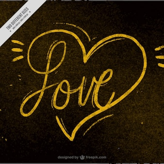 Golden background of love