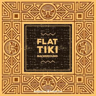Golden background with tiki design