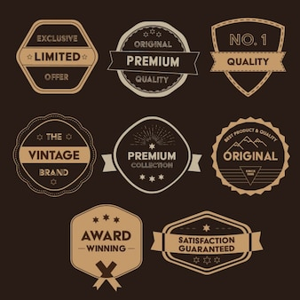 Golden badges collection