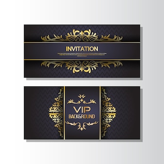 Golden banner invitation
