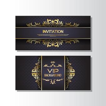 Golden banner invitation