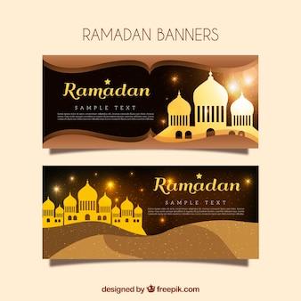 Golden banners of ramadan