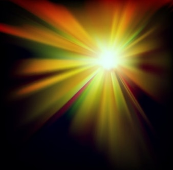 Golden beam abstract light background