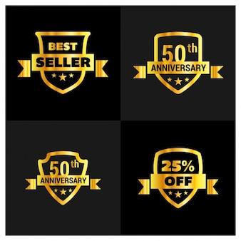 Golden best seller shields