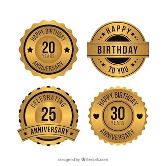 Golden birthday badges collection