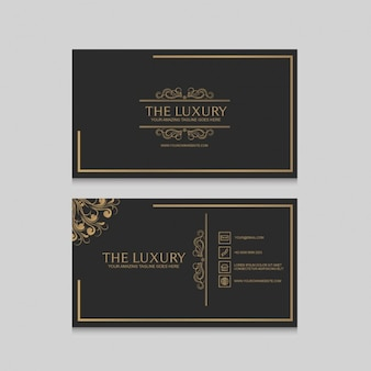 Golden business card