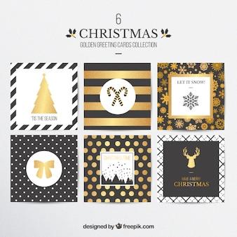 Golden christmas cards