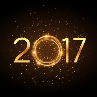 Golden circle new year vintage background