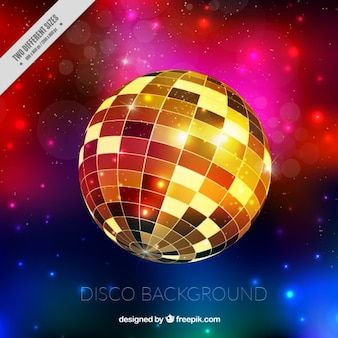 Golden disco ball background