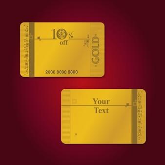 Golden discount card design