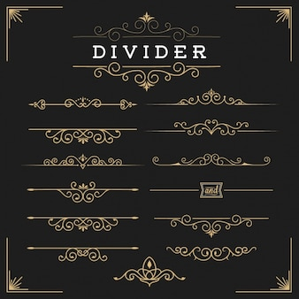 Golden dividers collection