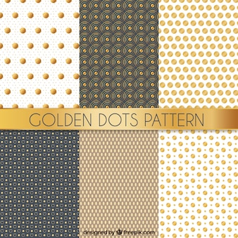 Golden dots pattern collection