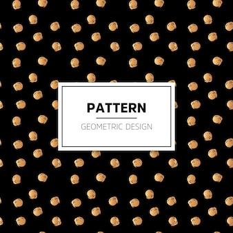 Golden dots pattern on black background