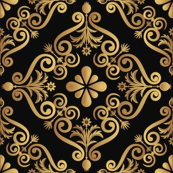 黒の背景に黄金の要素