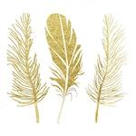 Golden feathers design