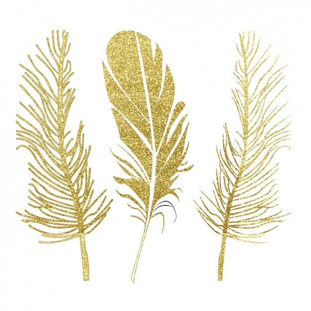 Golden feathers design
