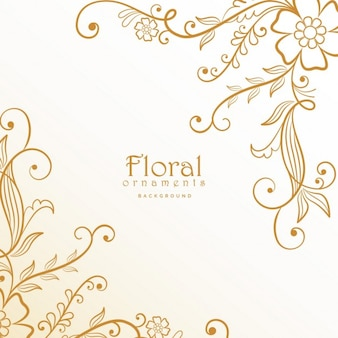 Golden floral ornaments