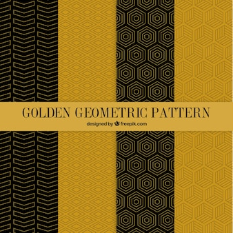 Golden geometric patterns pack