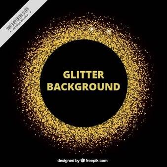 Glitter Gold Circle Border
