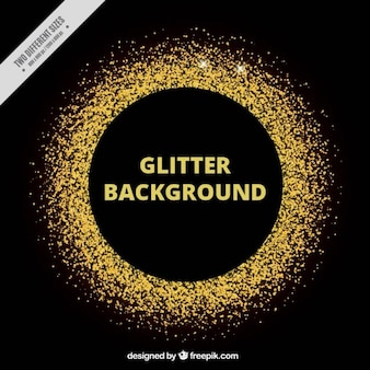 Golden glitter circle background