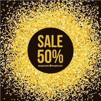 Golden glitter offer background