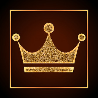 Golden grunge crown