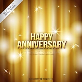 Golden happy anniversary background