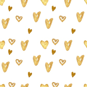 Golden hearts pattern design