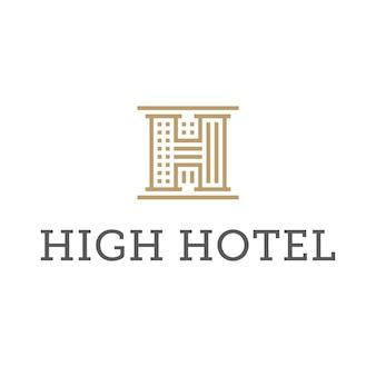 Golden hotel logo design