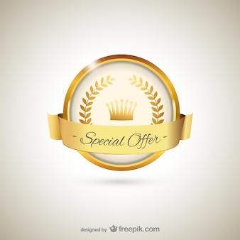 Golden label for special offer