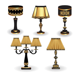 Golden lamps collection