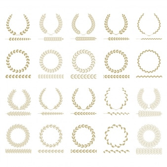 Golden laurel wreath collection