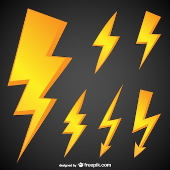 Golden lightning symbols