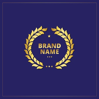 Golden logo template design