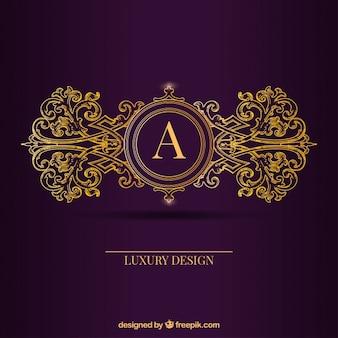 Golden logo template