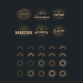 Golden logo templates