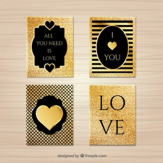 Golden love cards pack