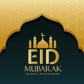 Golden luxurious background of eid mubarak