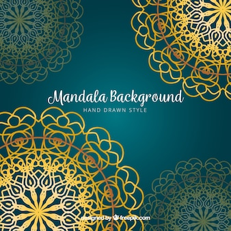 Golden mandalas background