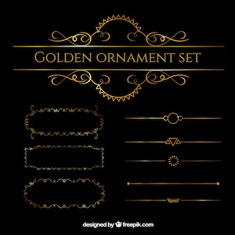 Golden ornament set