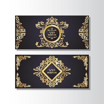 Golden ornamental banner