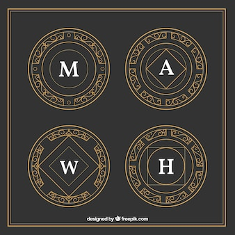 golden ornamental logoypes
