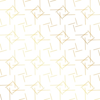 Golden pattern with lines and squares