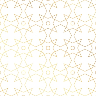 Golden pattern with stars and circles