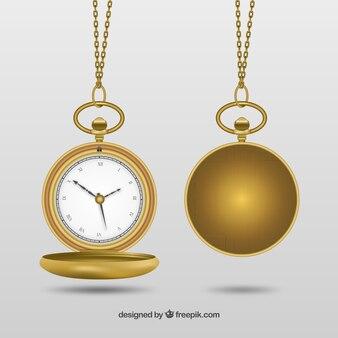 ゴールデン懐中時計
