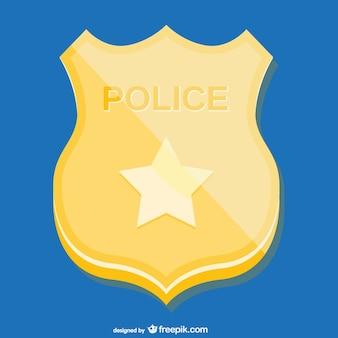 Golden police badge